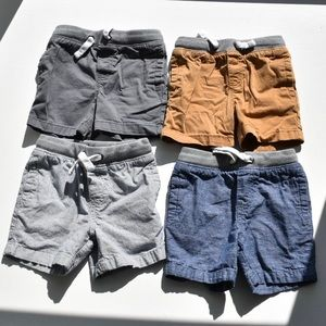 4 Pack Cat and Jack Toddler Boys' Shorts
